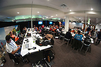 The media centre during the FIFA Under-20 Football World Cup Final between Brazil (gold) and Serbia at North Harbour Stadium, Albany, New Zealand on Saturday, 20 June 2015. Photo: Dave Lintott / lintottphoto.co.nz