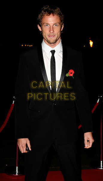 JENSON BUTTON .The Prince's Trust Invest In Futures Gala Dinner, Old Billingsgate Market  London, England, November 6th 2008..half length black tie suit poppy .CAP/CAN.©Can Nguyen/Capital Pictures