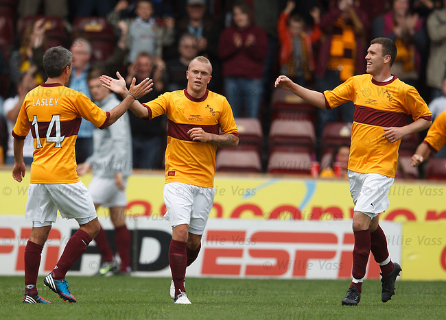Nicky Law takes the plaudits after scoring for Motherwell