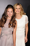 HOLLYWOOD, CA - AUGUST 28: Natasha Calis and Kyra Sedgwick  arrive at the 'The Possession' - Los Angeles Premiere at ArcLight Cinemas on August 28, 2012 in Hollywood, California.