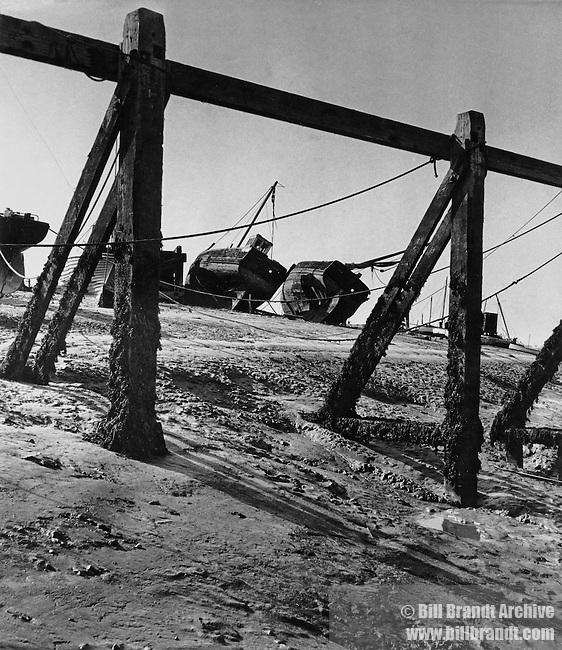 Aldeburgh beach fishing boats 1940s
