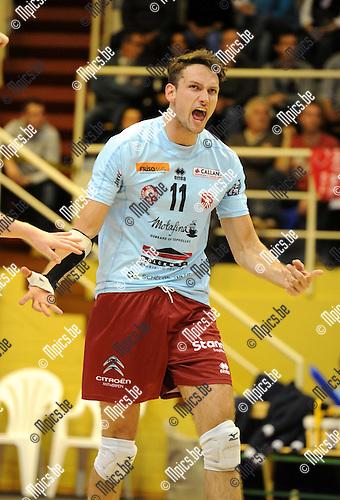 2013-10-31 / Volleybal / seizoen 2013-2014 / Topvolley Antwerpen / Thomas Koelewijn<br /><br />Foto: Mpics.be