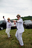 USA, Tennessee, Nashville, Iroquois Steeplechase, young drunk spectators in the infield