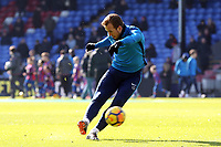 Harry Kane of Tottenham Hotspur ahead of kick off before Crystal Palace vs Tottenham Hotspur, Premier League Football at Selhurst Park on 25th February 2018
