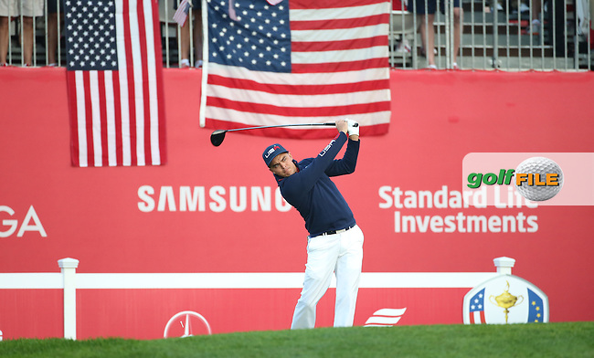 Rickie Fowler (Team USA) begins the Saturday Morning Foursomes, at the 41st Ryder Cup 2016, at Hazeltine National Golf Club, Minnesota, USA.  01View of the 10th2016. Picture: David Lloyd | Golffile.