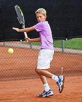 08-08-13, Netherlands, Rotterdam,  TV Victoria, Tennis, NJK 2013, National Junior Tennis Championships 2013, Tycho Korporaal  <br /> <br /> <br /> Photo: Henk Koster
