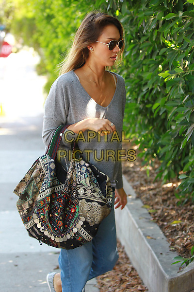 September 1 2014 Malibu California Jessica Alba walking to a friends house in Malibu  <br /> CAP/MPI/Misa<br /> &copy;Misa/MPI/Capital Pictures