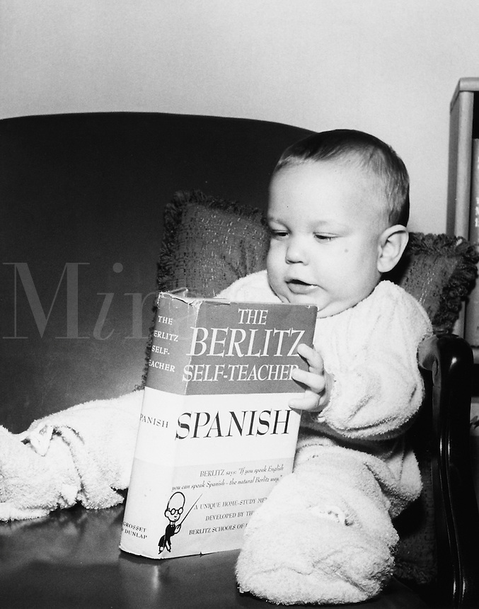 Baby learning Spanish.