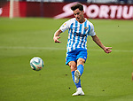 Juanpi Anor (Malaga CF) seen in action during La Liga Smartbank match round 39 between Malaga CF and RC Deportivo de la Coruna at La Rosaleda Stadium in Malaga, Spain, as the season resumed following a three-month absence due to the novel coronavirus COVID-19 pandemic. Jul 03, 2020. (ALTERPHOTOS/Manu R.B.)