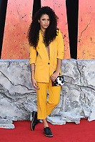 """Vick Hope arriving for the """"Rampage"""" premiere at the Cineworld Empire Leicester Square, London, UK. <br /> 11 April  2018<br /> Picture: Steve Vas/Featureflash/SilverHub 0208 004 5359 sales@silverhubmedia.com"""