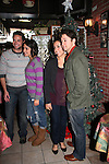 Brandon Barash - girlfriend Becky and Bradford Anderson & fiance Kiera - General Hospital - appeared by way of Coastal Entertainment on December 6, 2009 at Uncle Vinny's/Ferrera's Cafe in Point Pleasant, New Jersey. They sang for the fans, answered questions, signed photos and posed for photos. (Photos by Sue Coflin/Max Photos)