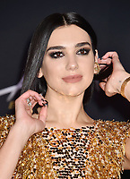 WESTWOOD, CA - FEBRUARY 05: Dua Lipa attends the Premiere Of 20th Century Fox's 'Alita: Battle Angel' at Westwood Regency Theater on February 05, 2019 in Los Angeles, California.<br /> CAP/ROT/TM<br /> ©TM/ROT/Capital Pictures