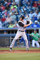 ***Temporary Unedited Reference File***Arkansas Travelers second baseman Alex Yarbrough (16) during a game against the Tulsa Drillers on April 28, 2016 at ONEOK Field in Tulsa, Oklahoma.  Tulsa defeated Arkansas 5-4.  (Mike Janes/Four Seam Images)