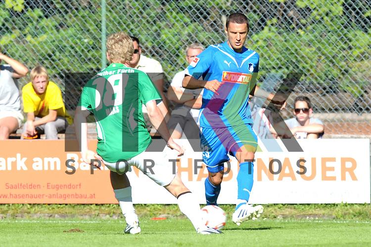 Leogang &Ouml;sterreich 31.07.2010, 1.Fu&szlig;ball Bundesliga Testspiel TSG 1899 Hoffenheim - Greuther F&uuml;rth, F&uuml;rther Leonard Haas gegen Hoffenheims Sejad Salihovic<br /> <br /> Foto &copy; Rhein-Neckar-Picture *** Foto ist honorarpflichtig! *** Auf Anfrage in h&ouml;herer Qualit&auml;t/Aufl&ouml;sung. Belegexemplar erbeten. Ver&ouml;ffentlichung ausschliesslich f&uuml;r journalistisch-publizistische Zwecke.