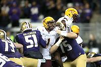 NOVEMBER 19:  ASU's Jojo Wicker against Washington.  Washington defeated ASU 44-18 at the University of Washington in Seattle, WA