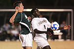 8 December 2007: Wake Forest's Marcus Tracy (9) shields the ball away from Notre Dame's Matt Besler (17). Wake Forest University defeated Notre Dame University 1-0 in overtime at Spry Stadium in Winston-Salem, NC in an NCAA Men's Soccer tournament quarterfinal.