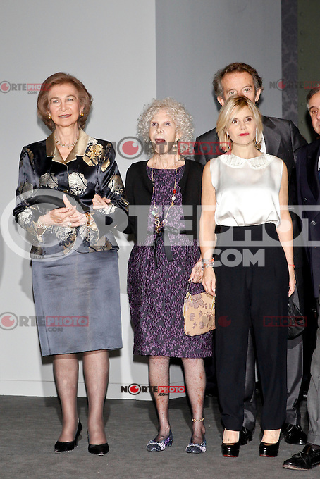Queen Sofia of Spain, Duchess of Alba, Cayetana Fitz-James Stuart and husband Alfonso Diez attend attend 'El Legado Casa de Alba' Art exhibition at the Palacio de Cibeles . December 18, 2012. (ALTERPHOTOS/Caro Marin) /NortePHOTO