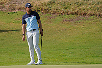 Adrien Saddier (FRA) on the 17th during Round 4 of the Oman Open 2020 at the Al Mouj Golf Club, Muscat, Oman . 01/03/2020<br /> Picture: Golffile | Thos Caffrey<br /> <br /> <br /> All photo usage must carry mandatory copyright credit (© Golffile | Thos Caffrey)