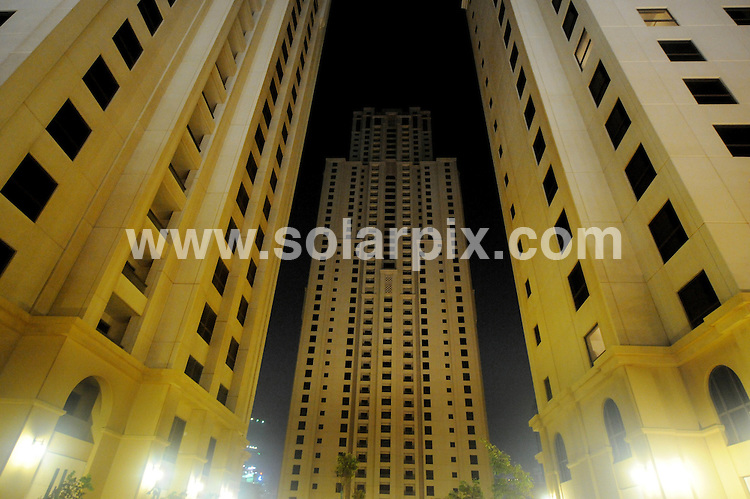 **ALL ROUND PICTURES FROM SOLARPIX.COM**.**WORLDWIDE SYNDICATION RIGHTS**.Dubai house prices fell by 24 per cent in the second quarter due to the economic slowdown in the country. Dubai, UAE. 11 August 2009..This pic: Apartment blocks in Jumeirah Beach Residence, Dubai, with all the lights off at night as they remain empty and have been mothballed due to lack of demand, this area of Dubai is largely populated by British Ex Pats..JOB REF: 9740 DBL     DATE: 11_08_2009.**MUST CREDIT SOLARPIX.COM OR DOUBLE FEE WILL BE CHARGED**.**MUST NOTIFY SOLARPIX OF ONLINE USAGE**.**CALL US ON: +34 952 811 768 or LOW RATE FROM UK 0844 617 7637**