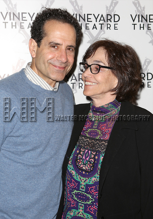 """Tony Shaloub and Brooke Adams attends the Opening night for Vineyard Theatre's world-premiere production of  """"Too Much Sun""""  at The Vineyard Theatre on May 18, 2014 in New York City."""