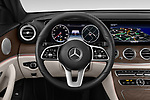 Car pictures of steering wheel view of a 2019 Mercedes Benz E-Class  E450 5 Door Wagon
