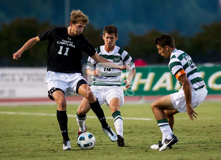 The number 5 ranked Charlotte 49ers play the University of South Carolina Gamecocks at Transamerica field in Charlotte.  Charlotte won 3-2 in the second overtime.  Snoopy Davidson (11), Nick Barnhorst (14), Isaac Caughran (23)