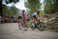 up the steepest part of the brutal Mas de la Costa: the final climb towards the finish<br /> <br /> Stage 7: Onda to Mas de la Costa (183km)<br /> La Vuelta 2019<br /> <br /> ©kramon