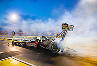 May 15, 2015; Commerce, GA, USA; NHRA top fuel driver Steve Torrence during qualifying for the Southern Nationals at Atlanta Dragway. Mandatory Credit: Mark J. Rebilas-USA TODAY Sports