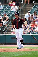 Rochester Red Wings designated hitter Byung Ho Park (7) walks to the plate during a game against the Norfolk Tides on July 17, 2016 at Frontier Field in Rochester, New York.  Rochester defeated Norfolk 3-2.  (Mike Janes/Four Seam Images)