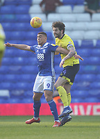 Blackburn Rovers Charlie Mulgrew battles with  Birmingham City's Che Adams<br /> <br /> Photographer Mick Walker/CameraSport<br /> <br /> The EFL Sky Bet Championship - Birmingham City v Blackburn Rovers - Saturday 23rd February 2019 - St Andrew's - Birmingham<br /> <br /> World Copyright © 2019 CameraSport. All rights reserved. 43 Linden Ave. Countesthorpe. Leicester. England. LE8 5PG - Tel: +44 (0) 116 277 4147 - admin@camerasport.com - www.camerasport.com