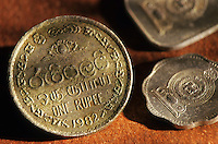 One sri lankan rupee coin.