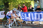 Elizabeth Deignan (GBR) chases in 6th place on the first circuit of Harrogate during the Women Elite Road Race of the UCI World Championships 2019 running 149.4km from Bradford to Harrogate, England. 28th September 2019.<br /> Picture: Seamus Yore | Cyclefile<br /> <br /> All photos usage must carry mandatory copyright credit (© Cyclefile | Seamus Yore)