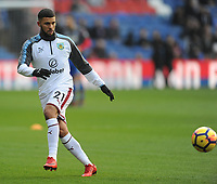 Burnley's Nahki Wells during the pre-match warm-up <br /> <br /> Photographer Ashley Crowden/CameraSport<br /> <br /> The Premier League - Crystal Palace v Burnley - Saturday 13th January 2018 - Selhurst Park - London<br /> <br /> World Copyright &copy; 2018 CameraSport. All rights reserved. 43 Linden Ave. Countesthorpe. Leicester. England. LE8 5PG - Tel: +44 (0) 116 277 4147 - admin@camerasport.com - www.camerasport.com