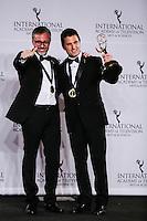 NEW YORK, NY 21.11.2016 - EMMY-2016 - Julian Rousso e Miguel Brailovsky durante tapete vermelho do Emmy Internacional 2016 prêmio dos melhores atores e novelas da TV, em Nova York, nos Estados Unidos na noite desta segunda-feira, 21. (Foto: Vanessa Carvalho/Brazil Photo Press)