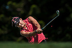Lexi Thompson of USA tees off on the 2nd hole during the day one of the Sunrise LPGA Taiwan Championship at the Sunrise Golf Course on October 25, 2012 in Taoyuan, Taiwan. Photo by Victor Fraile / The Power of Sport Images