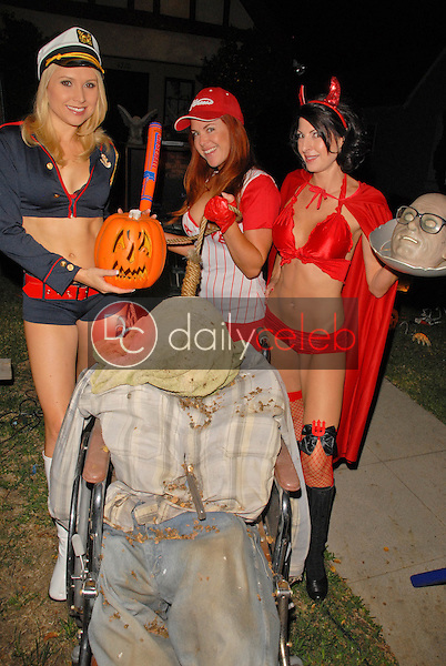 Alana Curry, Lisa Cash and Jamie Carson<br /> preparing for the annual Halloween Bash at the Playboy Mansion, Private Location, Los Angeles, CA. 10-24-09<br /> David Edwards/DailyCeleb.com 818-249-4998