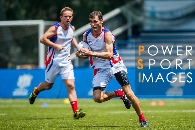 Swire Properties plays KPMG during the Swire Properties Touch Tournament at King's Park Sports Ground on 13th September 2014 in Hong Kong, China . Photo by Victor Fraile / Power Sport Images