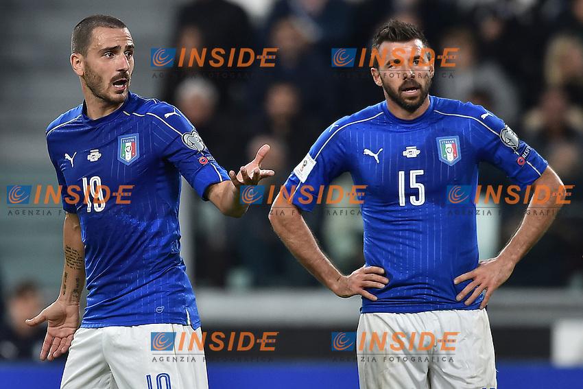 Leonardo Bonucci, Andrea Barzagli Italia <br /> Torino 06-10-2016 Juventus Stadium <br /> World Cup Qualifiers Italy - Spain / Italia - Spagna. Foto Andrea Staccioli / Insidefoto