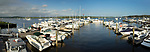 Essex Yacht Club. View of Marina and Connecticut River.
