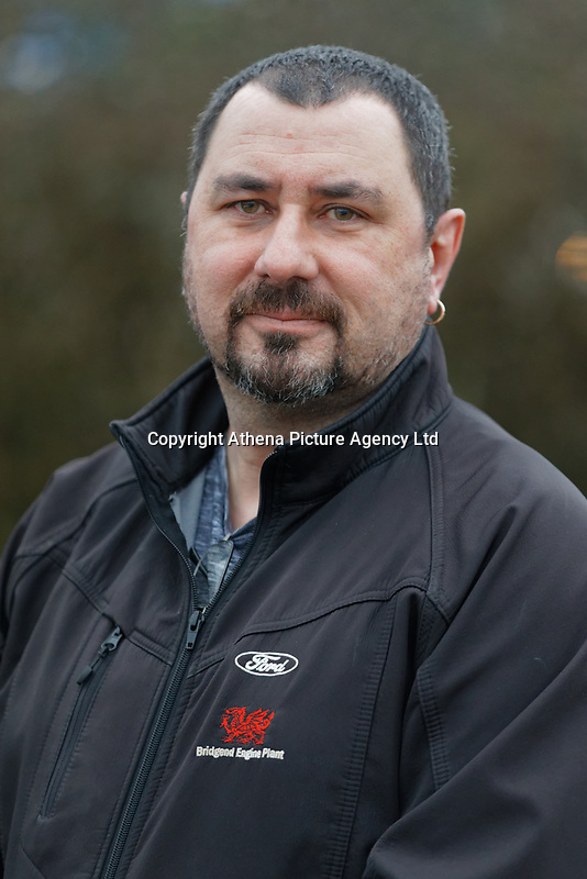 Pictured: Dick Jenkins, who has worked 30 years at the Ford plant in Bridgend, Wales, UK. Wednesday 19 February 2020<br /> Re: The effect of the Ford factory closure will have to Bridgend in south Wales, UK.