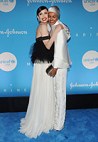 NEW YORK, NY - DECEMBER 3: Sofia Carson and Halima Aden at the 15th Annual UNICEF Snowflake Ball at The Atrium on December 3, 2019 in New York City. Credit: John Palmer/MediaPunch