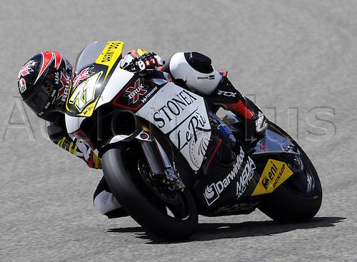 06 06 2010 Claudio Corti ITA Suter. Moto2 class, 600cc spec Honda eninges in prototype chassis. Gran Premio d'Italia TIM, Mugello circuit, Italy.