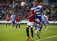 Fulham's Sone Aluko vies for possession with Reading's John Swift            <br /> <br /> <br /> Photographer Craig Mercer/CameraSport<br /> <br /> The EFL Sky Bet Championship Play-Off Semi Final Second Leg - Reading v Fulham - Tuesday May 16th 2017 - Madejski Stadium - Reading <br /> <br /> World Copyright &copy; 2017 CameraSport. All rights reserved. 43 Linden Ave. Countesthorpe. Leicester. England. LE8 5PG - Tel: +44 (0) 116 277 4147 - admin@camerasport.com - www.camerasport.com