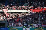 10.04.2019, Schauinsland-Reisen-Arena, Duisburg, GER, 2. FBL, MSV Duisburg vs. 1. FC Koeln,<br />  <br /> DFL regulations prohibit any use of photographs as image sequences and/or quasi-video<br /> <br /> im Bild / picture shows: <br /> Fans Koelner<br /> <br /> Foto &copy; nordphoto / Meuter