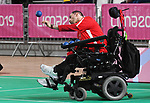 Hanif Mawji competes in Boccia at the 2019 ParaPan American Games in Lima, Peru-29aug2019-Photo Scott Grant