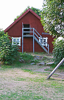 The hay-loft where the children jumped in the hay. The original location where Astrid Lindgren's story on Bullerbyn was filmed. In reality called Sevedstorp. Smaland region. Sweden, Europe.