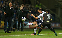 Bolton Wanderers' Filipe Morais battles with Bury's Greg Leigh<br /> <br /> Photographer Alex Dodd/CameraSport<br /> <br /> The EFL Sky Bet League One - Bolton Wanderers v Bury - Tuesday 18th April 2017 - Macron Stadium - Bolton<br /> <br /> World Copyright &copy; 2017 CameraSport. All rights reserved. 43 Linden Ave. Countesthorpe. Leicester. England. LE8 5PG - Tel: +44 (0) 116 277 4147 - admin@camerasport.com - www.camerasport.com