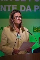 RIO DE JANEIRO, RJ, 13 DE FEVEREIRO DE 2012 - Cerimônia de Posse da nova Presidente da Petrobrás  - A nova Presidente da Petrobras, Graça Foster, na cerimônia de tomada de posse, na sede da Petrobras.<br /> FOTO GLAICON EMRICH - NEWS FRE