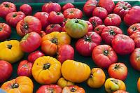Heirloom, tomatoes, heirloom cultivar, tomato, Vegetables, Produce, Farmers Market, Farm-fresh