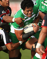 Manawatu's Lisiate Fa'aoso during the Air NZ Cup rugby match between Manawatu Turbos and Counties-Manukau Steelers at FMG Stadium, Palmerston North, New Zealand on Sunday, 2 August 2009. Photo: Dave Lintott / lintottphoto.co.nz